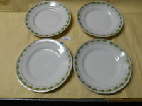 Vintage Ironstone Dessert Plates (4) w/ Ivy Border and Gold Trim Made in Austria