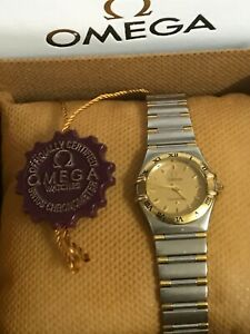 Omega Constellation Ladies Gold bezel