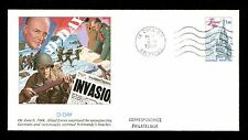 Commemorative Cover Epic Events History D-Day Caen France