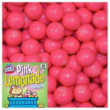 """1 Lb Dubble Bubble Pink Lemonade Gum Balls 1"""" Round Bulk Vending Gumballs 24mm"""