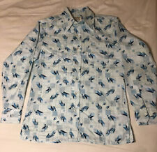 Vintage 60s 70s Disco Richman Brothers Mens Geometric Shirt Size M Long Sleeve