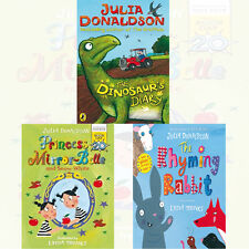 Julia Donaldson The Rhyming Rabbit, Dinosaur's Diary 3 Books Collection Set New