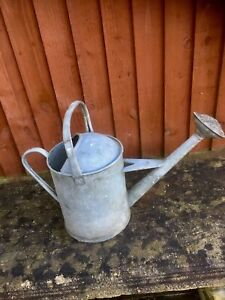 Vintage Beldray 1 Gallon Galvanised Metal Watering Can 851094 With Copper Rose