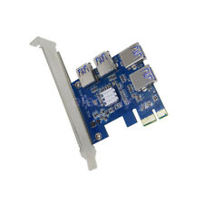 Riser Card PCI-E USB3.0 Port Multiplier Express PCIe 1 to 4 USB for BTC Miner