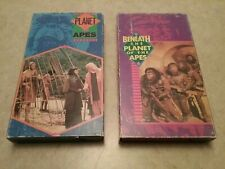 Lot of 2 Planet of the Apes and Beneath the Planet of the Apes VHS CBS FOX Tapes