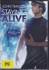 Staying Alive DVD Drama Music Romance John Travolta Region 4