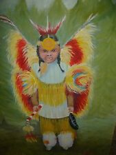 TEXAS ORIGINAL REGIONAL ARTIST LILLIE PITTS SOUTHWESTERN AMERICAN CHILD PAINTING