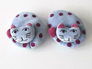 Jellycat - Cat Nap x 2 - Blue - Soft Small Beanie Bundle