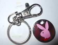 Pink Playboy with red bow Keyring Trolley Coin £1 Token Gym locker supermarket