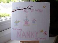 Handemade Personalised  Birthday Card Mummy, Mum, Nan, Sister, Grandma