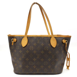 LOUIS VUITTON Neverfull PM Handbag Monogram Brown M40155