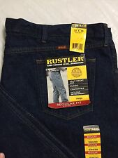 Rustler Jeans 50x30 Regular Fit Straight Leg Heavyweight Denim Workwear NWT