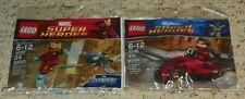 LEGO 30166, 30167 - Robin's Redbird Cycle & Iron Man Drone - Poly Bag Set - NEW