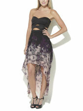 Arden B Ombre Bubble Skirt Dress Floral Black Small S