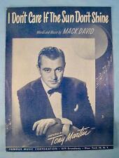 I Dont Care If The Sun Dont Shine Sheet Music Vintage 1949 Tony Martin Mack (O)