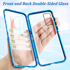 For Huawei P40 P30 Pro P40 Lite Y6P 360° Magnetic Double Sided Glass Cover Case