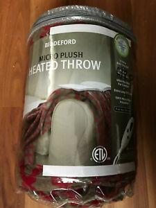 Biddeford Micro Plush Blanket Electric Heated Throw blanket