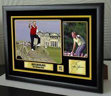 "Jack Nicklaus ""Golden Bear"" homenaje Lienzo Enmarcado Golf impresión firmada ""gran regalo"""