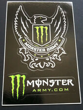 "Monster Army 2-in-1 4.5"" x 3"" Sticker Decal Original Monster Energy Official"
