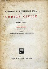 RASSEGNA DI GIURISPRUDENZA SUL CODICE CIVILE : LIBRO QUINTO -TITOLI V- XI-