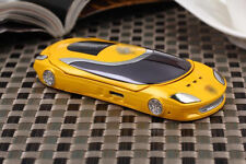 W8+ Yellow Flip Sport Car Mobile Cell Phone Quadband FM Camera Bluetooth