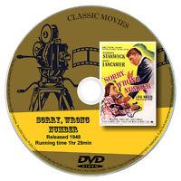 Sorry Wrong Number - Barbara Stanwyck, Burt Lancaster  - Drama, Mystery 1948 DVD