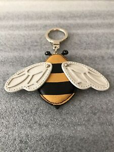 Kate Spade Picnic Perfect Bee Leather Keychain FOB Purse Charm Pre-owned