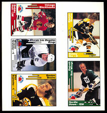 1991 POCKET PRICE GUIDE HOCKEY UNCUT SHEET 5 CARD SET 5-10 BOBBY ORR HULL HOWE
