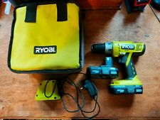 Ryobi one combi drill 18v with 2 batteries and charger
