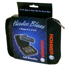 Hohner HBP Hoodoo Blues 3 Pack Includes Key of C, D, G, New!