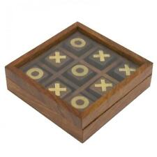 Nauticalia Naval-Style Wooden Noughts & Crosses Game Set