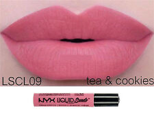 NYX TEA & COOKIES Liquid Suede Waterproof Long lasting Makeup Cream Lipstick B9