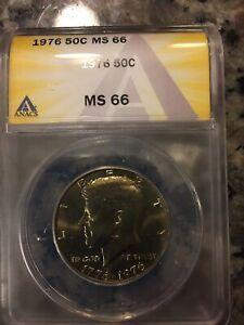 1776 - 1976 Kennedy Bicentennial Half Dollar 50C MS 66 Anacs