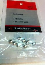 Fast-Acting 3.15-Amp 125-Volt Fuses #270-0144 By RadioShack