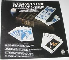 T. TEXAS TYLER DECK OF CARDS VINTAGE VINYL LP VARIOUS ARTISTS JOHNNY CASH RECORD