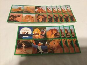 Disney The Lion King TABB Pogs Milk Caps 60 In Total (10 Sheets Of 6)