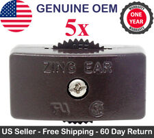 5x Zing Ear KS-30 Feed Thru Cord Inline Switch SPT-2 Lamp On Off 125V 6A - Brown