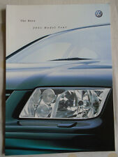 VW Bora range brochure 2001 model year pub Feb 2001