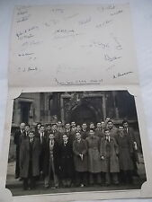 Photograph of Bath Schoolboys From 4c CBBS in London dated 1947 with Signatures