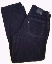LEVIS Silvertab BAGGY Black CORDUROY Pants 35 34 MENS Size USA Cotton BLEND Pant