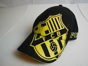FC BARCELONA OFFICIAL SPELL OUT TEAM LOGO CAP / HAT  Black & Yellow
