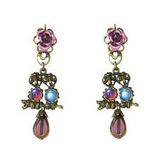 Sweet Romance Baby Owls Pierced Earrings Purple ~Made in California~