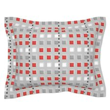 Square Modern Abstract Geometric Geo Bauhaus Pillow Sham by Roostery