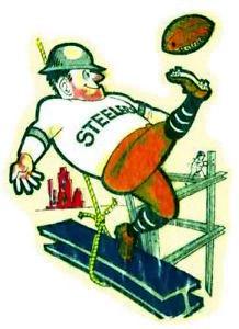 Pittsburgh Steelers NFL  AFL Vintage Looking  1960's Travel Decal Bumper Sticker
