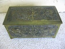 Antique/Vintage Belgium Brass Tobacco Box?
