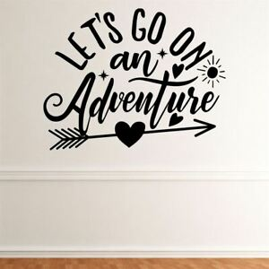 Let's Go On An Adventure Wall Sticker Decal Quote Motivational Outdoors Family
