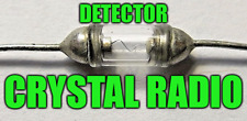 OLD CRYSTAL RADIO RECEIVER GLASS DETECTOR CAT WHISKER GERMANIUM DIODE SENSITIVE