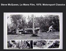 Steve McQueen Le Mans Film Crash Scene 1970 Rare Awesome Car Poster! Own It!