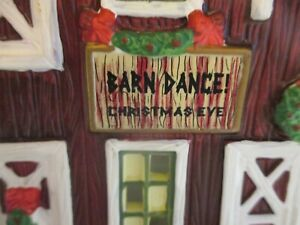 "St Nicholas Square Christmas Village Lighted Building ~ ""Country Barn"" 2001"