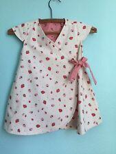 NWOT Petit Peony reversible wrap dress / 12-18 months kimono / strawberry print